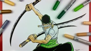 Drawing Roronoa ZORO from One Piece