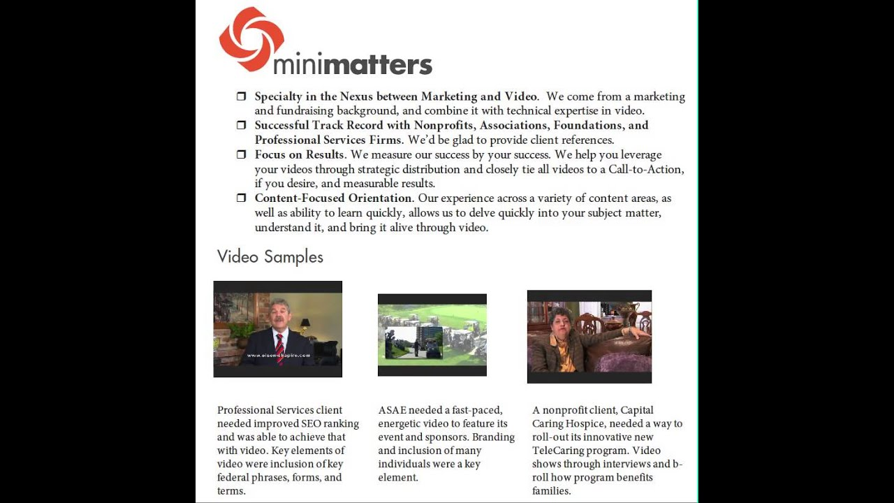 Embedding a Video in a PDF-Using Video to Improve Presentations, Part 3 -  Video Production Washington DC - MiniMatters