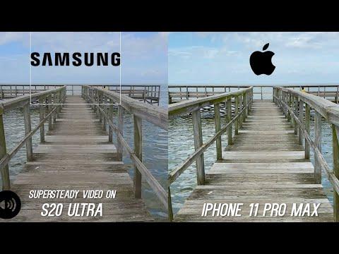 Galaxy S20 Ultra Camera Vs IPhone 11 Pro Max Video Stabilization Test - WOW!