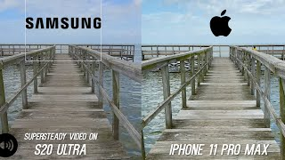 Galaxy S20 Ultra Camera vs iPhone 11 Pro Max Video Stabilization Test - WOW!