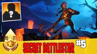 Secret Battle Star in Week 5 Location Guide in Fortnite // FREE Battle Pass Tier in Season 8