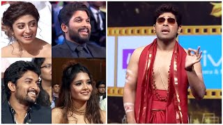 Allu Sirish Hilarious Punches On Allu Arjun & Jr NTR Made South Stars Laugh Out Loud. SIIMA Comedy