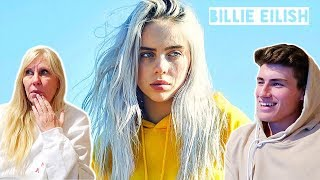 MOM REACTS TO BILLIE EILISH - (Lovely & Bellyache & When The Party's Over)