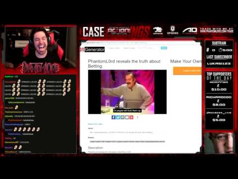 PhantomL0rd reveals the truth about Betting [LIVE REACTION]