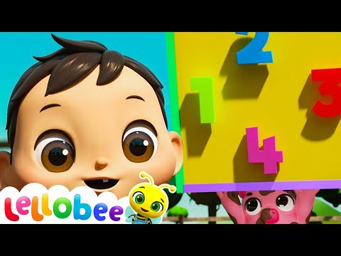 Muddy Puddles Shapes and 123s Song | Brand New Nursery Rhyme & Kids Song ABCs | Little Baby Bum