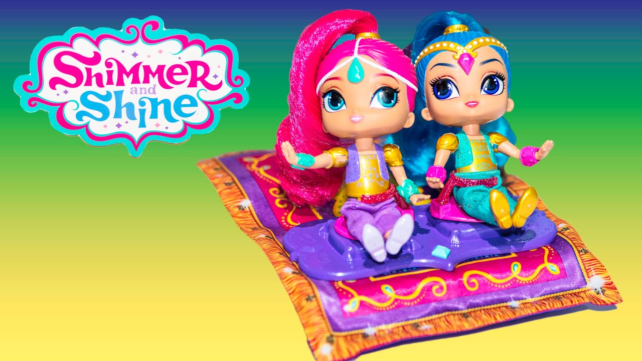 Unboxing The Shimmer And Shine Toys Genie Carpet Toy Youtube