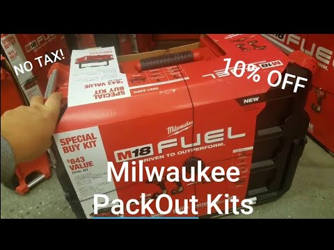 BREATH TAKING DEAL!! Milwaukee Packout Kits 10% Off And No Tax!!..  Epic Deal!!!
