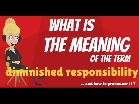 What is DIMINISHED RESPONSIBILITY? What does DIMINISHED RESPONSIBILITY mean?