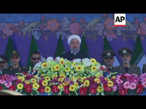 President Rouhani attends military parade for national Army Day