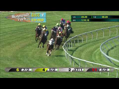 video thumbnail for MONMOUTH PARK 08-09-20 RACE 7