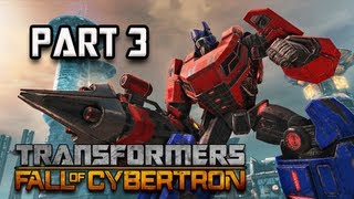 Transformers Fall of Cybertron Walkthrough - Part 3 [Chapter 2] Decepticon Leaper Let's Play PC