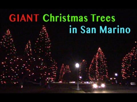 Giant Christmas Trees in San Marino 2016