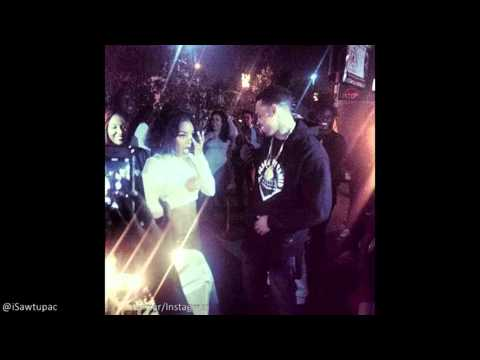 Chris Brown Bringing Out A Cake To Surprise Teyana At Her single Release Party Last Night In LA