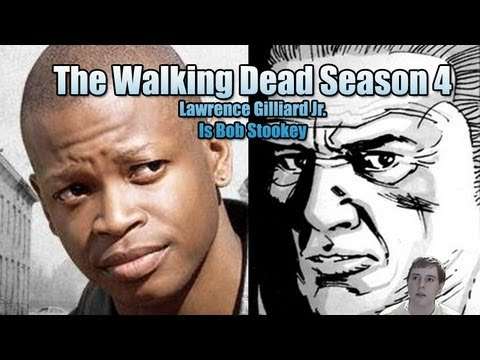 The Walking Dead Season 4  Lawrence Gilliard Jr. Actually Playing Bob Stookey!