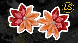 Заколка Канзаши Мастер класс для начинающих Цветок из лент своими руками