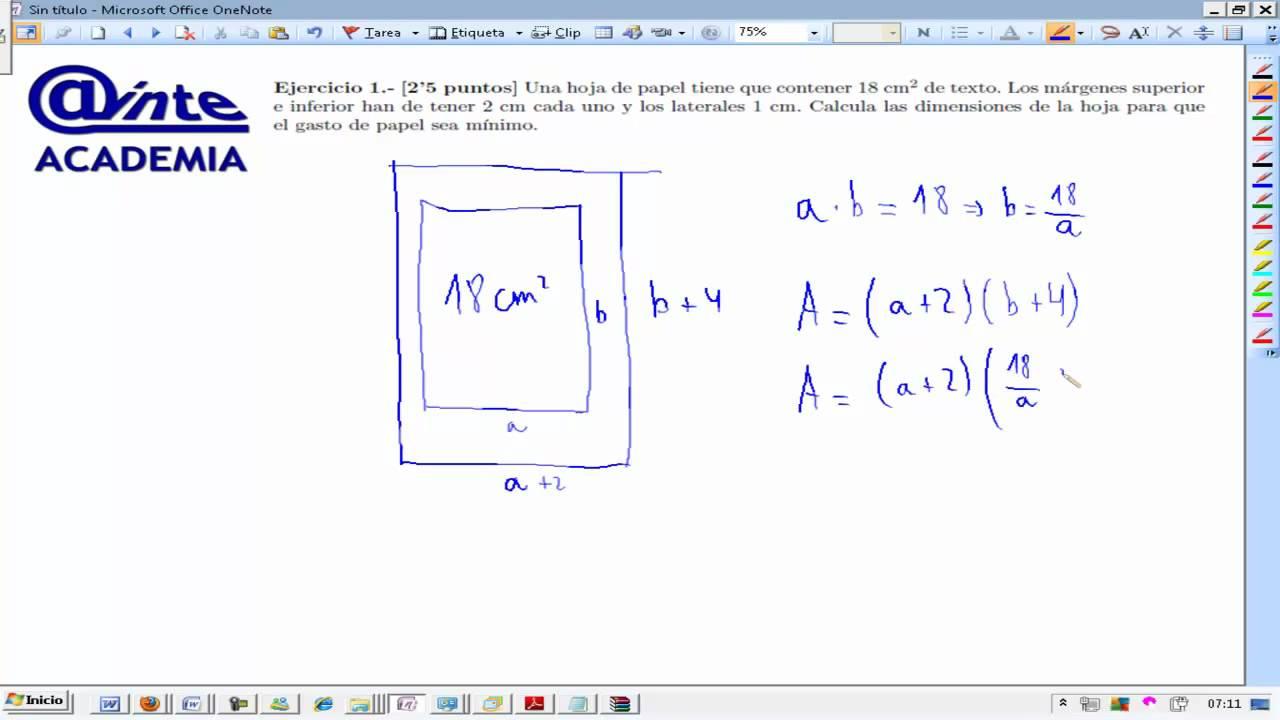 Hoja de papel óptima Selectividad UD10 Matemáticas 2º Bachillerato ...