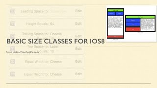 Swift Swift: Using Auto Layout with Size Classes