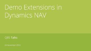 Demo Extensions in Dynamics NAV