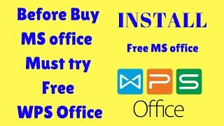 Gambar cover How to download and install WPS Office 2016 free office on windows 10 .