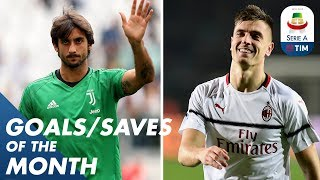 Perin incredible double save and Piątek wonder strike | Goals & Saves of the Month | Serie A