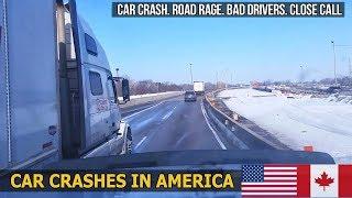 Car Crashes in America (USA & Canada) bad drivers, Road Rage 2018 # 26