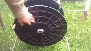 Самодельная катушка для садового шланга  A homemade coil for a garden hose