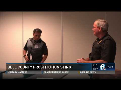 Bell County Prostitution Sting