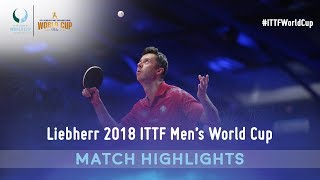 Fan Zhendong vs Vladimir Samsonov I 2018 ITTF Men's World Cup Highlights (1/4)