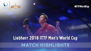 Fan Zhendong Vs Vladimir Samsonov   2018  TTF Mens World Cup Highlights 14