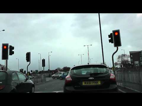 Driving Along East Lancashire Road & Lower Lane, Liverpool, England 4th April 2012