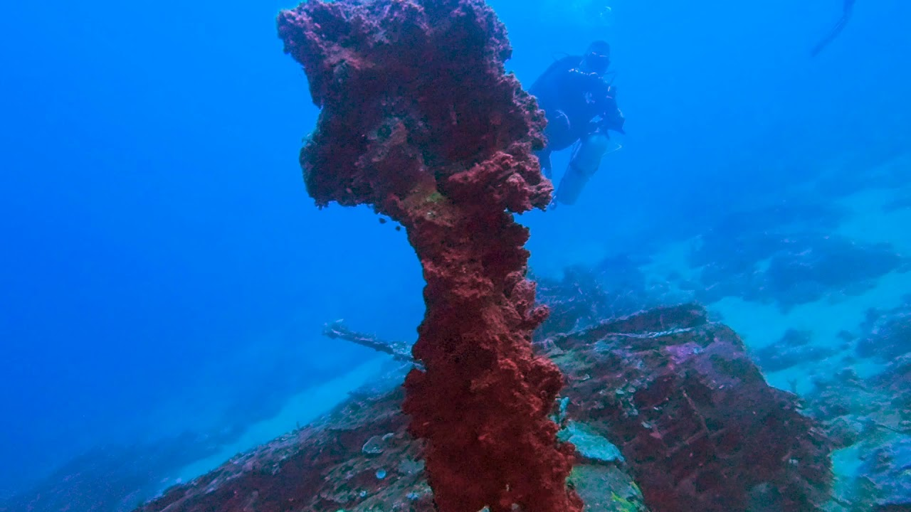 Wawama Wreck Diving Morotai Indonesia Youtube