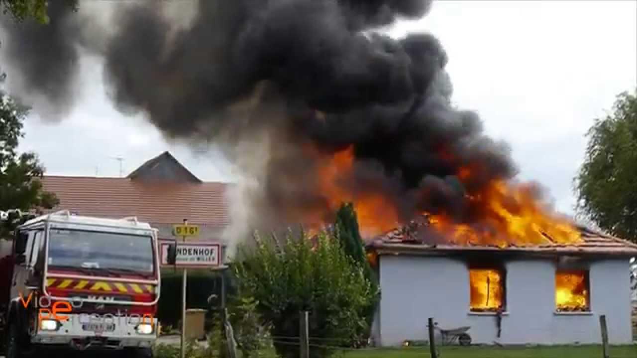 Feu g n ralis d 39 une maison individuelle au windenhof for Au feu les pompiers la maison