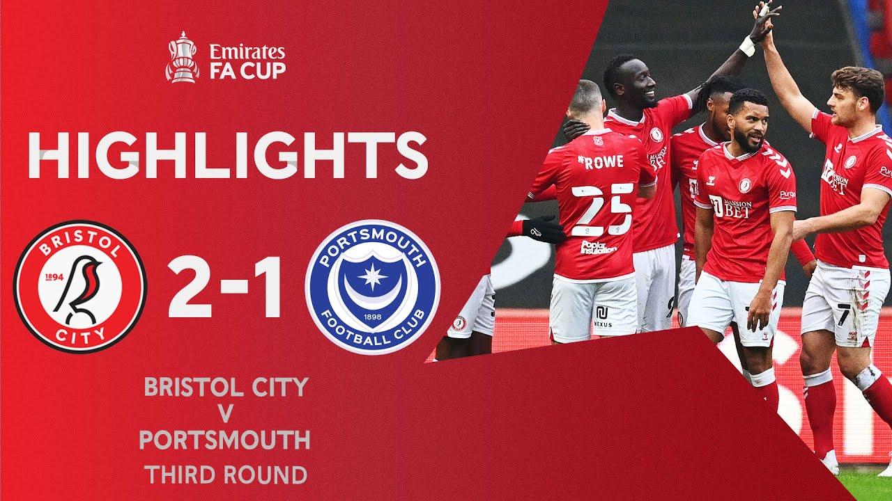 Martin Screamer Sends Bristol Through! | Bristol City 2-1 Portsmouth | Emirates FA Cup 2020-21