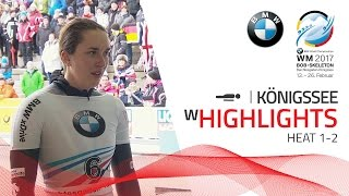 Highlights Heat 1-2 | The snow can't stop Jacqueline Lölling | BMW IBSF World Championships 2017