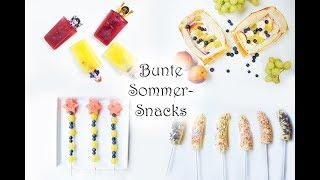 Bunte Sommer-Snacks (nicht nur) für Kinder | Playmobil-Eis, Zauber-Obstspieße, Obst-Pizza