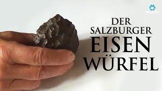 Der Eisenwürfel in einem 10 Millionen Jahre alten Kohlestück