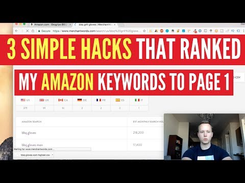 The ULTIMATE Guide To Get Your Amazon Keywords To Page 1 WITH AMAZON FBA 3 SIMPLE HACKS