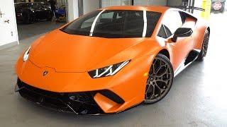 Delivery of a 2018 Lamborghini Huracán LP 640-4 Performante Coupè in Arancio Anthaeus!!