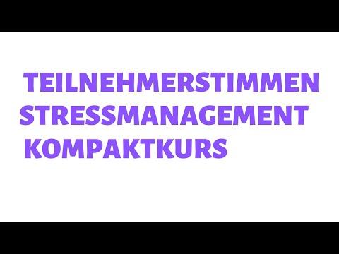 Teilnehmerstimmen Stressmanagement Kurs