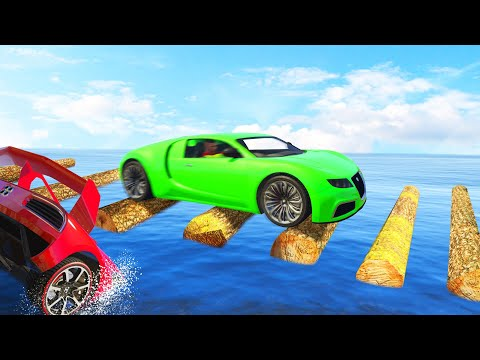 CROSS The Logs Without FAILING! (GTA 5 Funny Moments)
