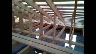 Усиление стропил вальмовой крыши