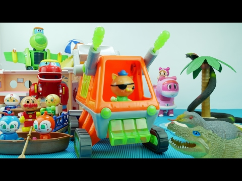 Thumbnail: Let's GO Octonauts GUP T! Anpanman and GOGO Dino Under Attack by Monster Bugs! 출동 옥토넛! 호빵맨 고고다이노 구해줘