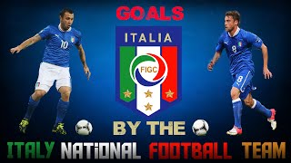 GOALS BY THE ITALY NATIONAL FOOTBALL TEAM