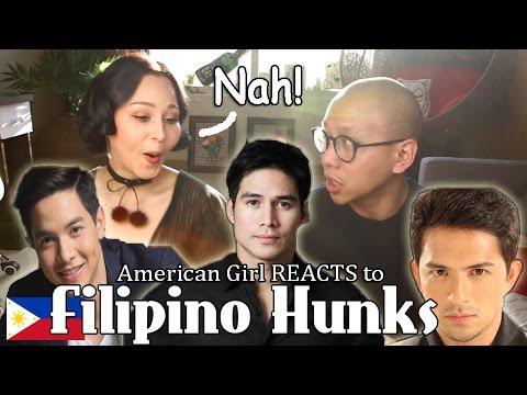 American Girl Reacts to Filipino Hunks   Megan Bowen ChoNunMigookSaram X Mikey Bustos