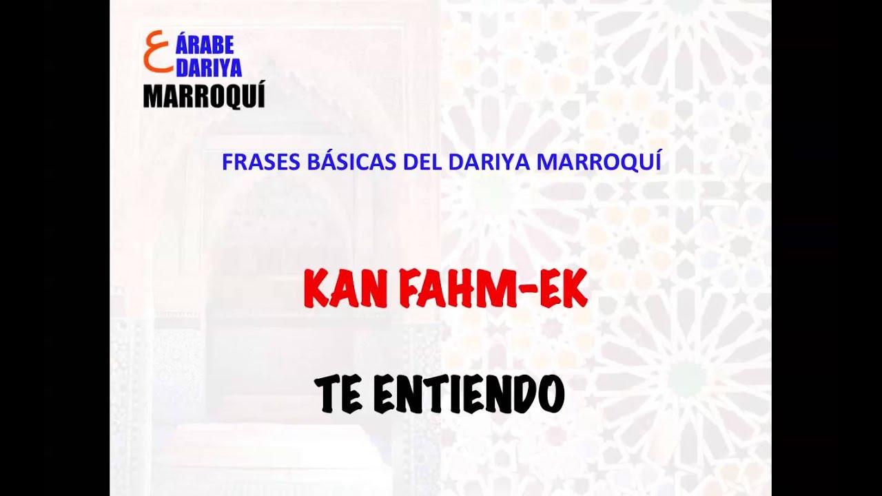 Frases Básicas Del Dariya Marroquí Ii