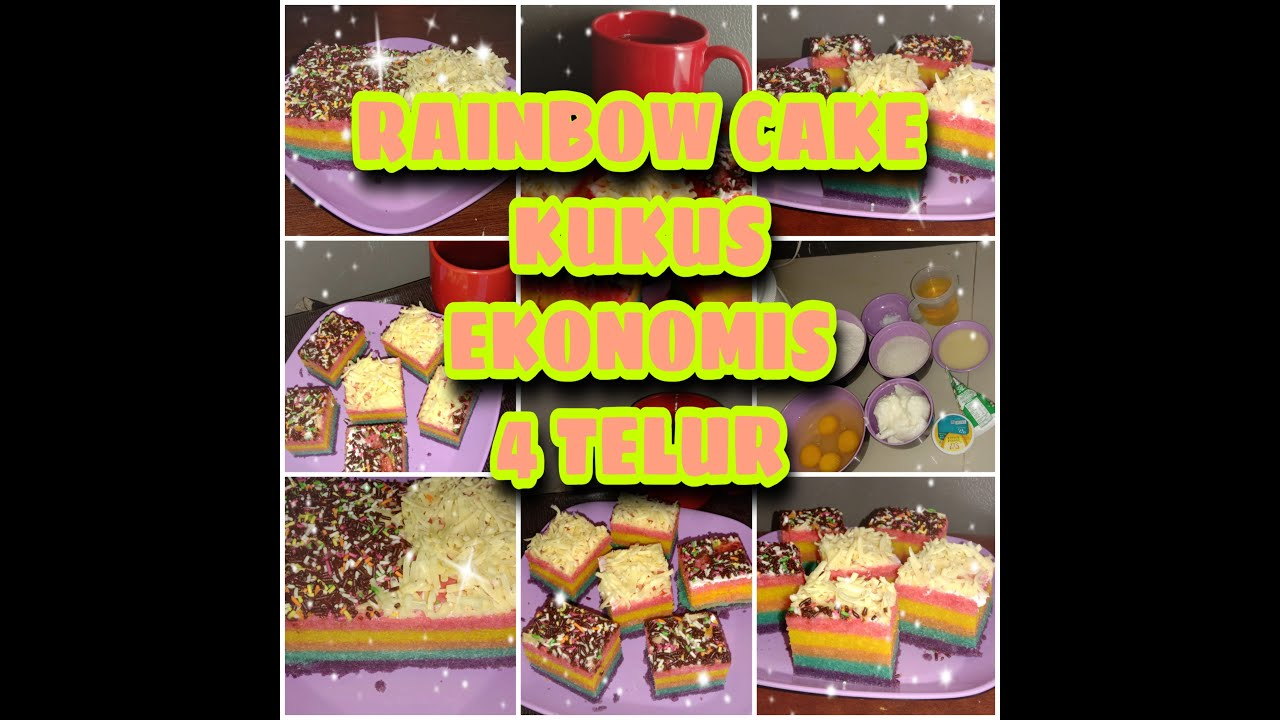 RAINBOW CAKE KUKUS EKONOMIS 4 TELUR, PRAKTIS DAN ANTI ...