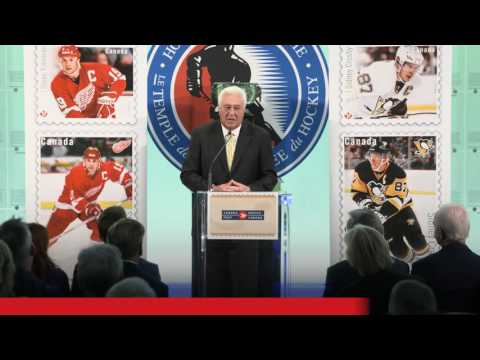 Stamp unveiling: Great Canadian Forwards