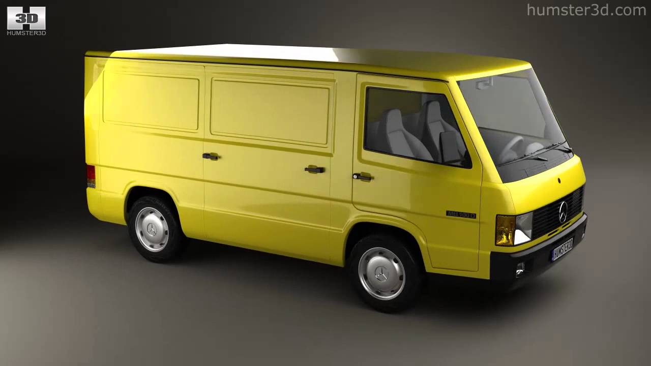 mercedes benz mb100 panel van 1988 by 3d model store youtube. Black Bedroom Furniture Sets. Home Design Ideas