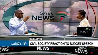 Civil society reacts to Gigaba's budget speech: Thulani Tshefuta