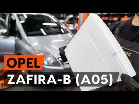 Как заменить салонный фильтр на OPEL ZAFIRA-B 2 (A05) [ВИДЕОУРОК AUTODOC]